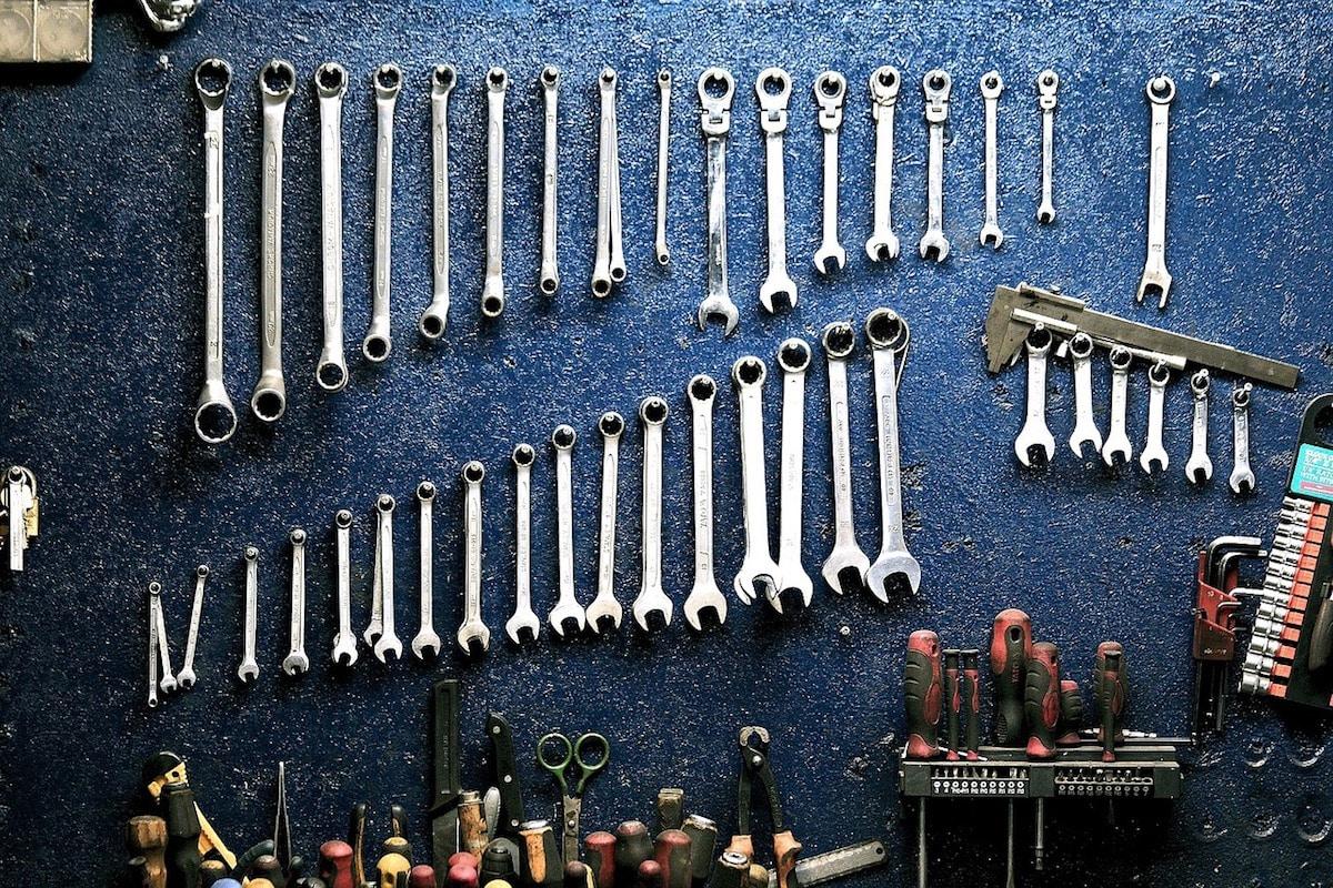 Vanliga verktyg i en verkstad