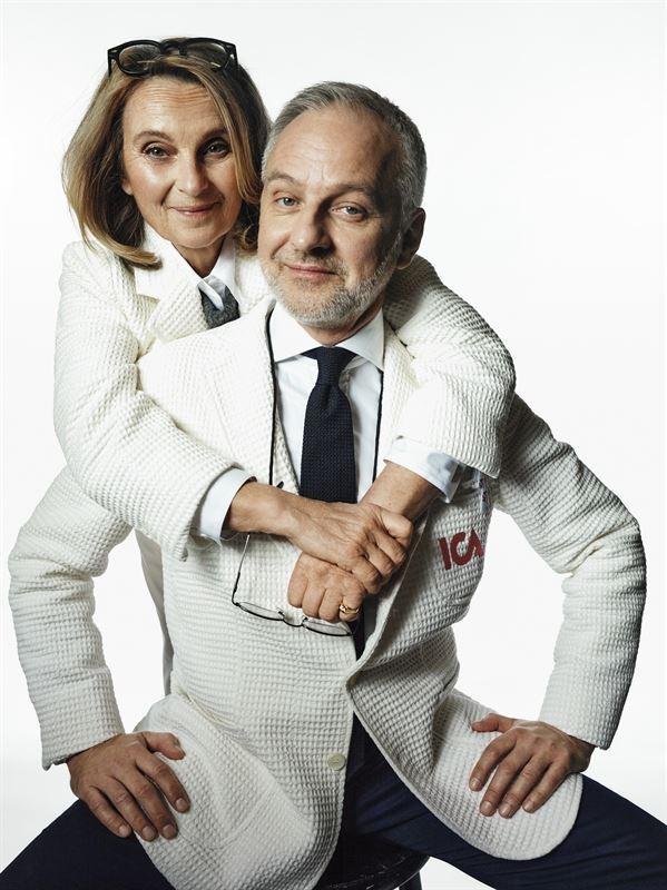 Suzanne Reuter och Björn Kjellman som ICA-Stina och ICA-Stig