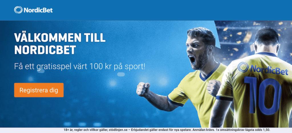 NordicBet bonus 100 kr